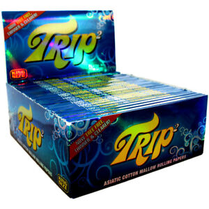 TRIP TRANSPARENT 40  Rolling Papers CLEAR KING SIZE Slow Burn