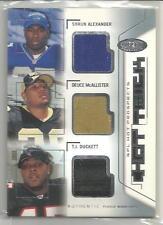 2002 Hot Prospects Football Alexander-McAllister-Duckett Hat Trick 3x Hat Card