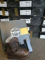 British Army Brown Leather YDS Kestrel Combat Boots Brand New In Box Tactical UK