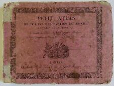 """""""PETIT ATLAS DE TOUTES LES PARTIES DU MONDE…"""", TARDIEU-DENESLE, 1823"""