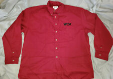 WCW officially-licensed red button-down Dress Shirt (2XL) * Never Worn