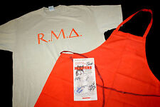 Hooters uniform Ft Campbell XL T Shirt Chef Apron Signed Menu rare limited