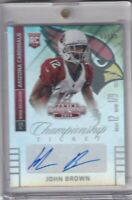 John Brown 2014 Contenders Championship Ticket Rc Auto Sp /99