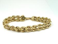 "Diamond Cut Double Rope BRACELET 10.5mm Wide 7.5"" long 14K Gold 7.88 gm"