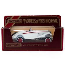 Matchbox Models of Yesteryear 1938 Mercedes Benz 540K White Y20 New In Box 1985