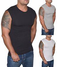 Herren T-Shirt Ärmellos Slim-Fit Tank Shirt - Fitness Muskel Shirt - S bis XXL