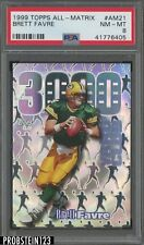 1999 Topps All Matrix Brett Favre Green Bay Packers PSA 8 NM-MT