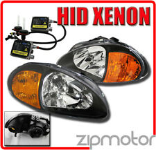 93-97 HONDA DEL SOL BLACK HEAD LIGHT W/CORNER+6000K HID