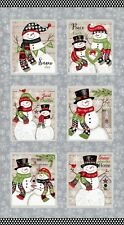 Chrismas Snowman Holiday Snow Place Like Home Cotton Fabric Studio E 24
