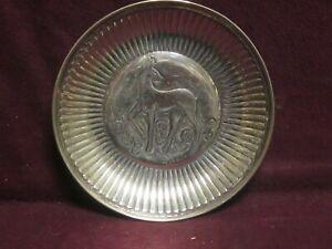 "Guldsmeds Aktiebolaget (Gab) Sweden 800 Silver Art Deco Dish 5 1/8"" no monogram"