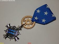 Steampunk Medal pin drape badge brooch tardis Dr Who police box scifi timelord