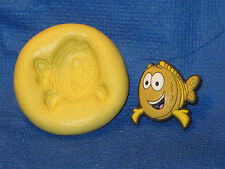 Mr. Grouper Bubble Guppies Silicone Push Mold 450 Resin Craft Topper Chocolate