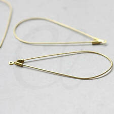 10 Pieces Raw Brass Earring Hooks - Teardrop - Tear 54.4x25.6mm (3450C-L-155)