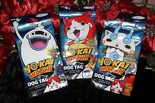 NWT YO KAI WATCH DOG TAGS GIFT PACKS LOT OF 6 EACH INCLUDES NECKLACE TATTOOS & S