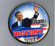 """Barack Obama 2008 Victory 2.25"""" Political Ad President Pinback Button Confetti"""