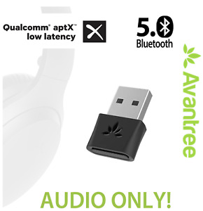 Avantreee DG80 Bluetooth 5.0 USB Audio Transmitter, aptX-LL PC Mac Linux PS4 etc