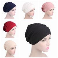 Women Ladies Cotton Hat Cap Hair Loss Beanie Chemo Head Wrap Hat Headcover Wraps