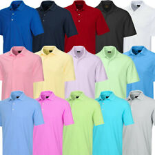 Greg Norman Mens 2020 Play Dry Protek Micro Pique Golf Short Sleeve Polo Shirt