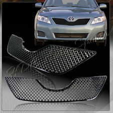 For Toyota Camry XLE SE CE LE ABS 3D Front Hood Bumper Black Mesh Grille Grill