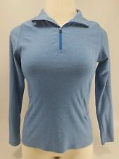 C9 By Champion Semi Fitted Women Long Sleeve Athletic 1/4 Zip Top Sz Med Blue