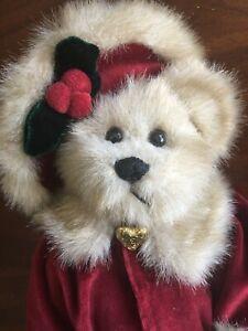 Bearington Bear Collection Red Velveteen Cape Faux Fur Muff & Trim Locket