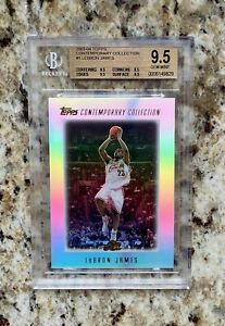 2003 Topps Contemporary Collection Lebron James Card no. 1 BGS 9.5 Quads