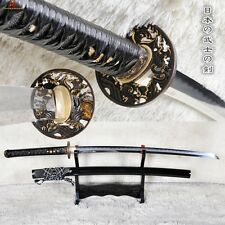 Battle Ready Japanese KATANA Clay Tempered Folded Steel Hazuya Blade Sharp Sword