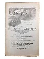 Aérostat Dirigeable 1906 Dumas Wellman Rare Revue Aéronautique Chavoutier Ballon