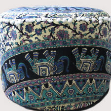 Pouffe Medallion Mandala Throw Round Floor Cushion Day Bed Bean Bag Cover