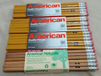 Faber Castell #2 American Wood Pencils 47 Total - 36 Yellow 11 Naturals