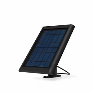 Ring Solar Panel Black - Compatible with Ring Spotlight Cam Battery and Stick Up