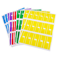 300pcs 10 Sheets Self-adhesive Cable Labels Identification Markers Tags Sticker