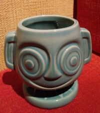 Trader Sam's Grog Grotto HippopatoMaiTai Tiki Mug Cup mai tai Aqua Teal WDW poly