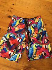 NWOT Billabong Rare Parrot Bird Men's swim beach Board shorts Swimmers Size 30