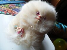 Vintage 1950s Angora Rabbit Fur Stuffed Cat -Made by Jerry Elsner Co