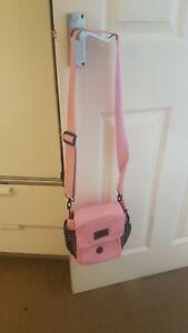 DOG Shoulder Bag Dog Walking Accessory Treat Bag - Pink - Multi Pockets - New