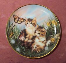 Franklin Mint Cats Kittens Chasing Butterflies Porcelain Collector Plate