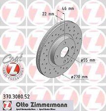 Disque de frein avant ZIMMERMANN PERCE 370.3080.52 MAZDA MX-5 II NB 1.8 16V 139