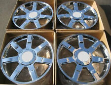 "24"" Set of 4 Wheels Rims For Cadillac Escalade All Chrome Finish 24 X 10 Inch"
