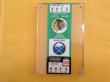 Chicago Blackhawks 2 Game Tickets -Vintage March 1992 Vs. Sabres #5&6
