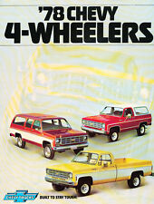 1978 Chevrolet 4wd Truck Blazer and Suburban Original Car Sales Brochure - Chevy