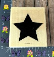 """Stampin' Up! Dotted Outlined Star Rubber Stamp Independence Day 3"""" #K157"""