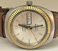 RARE Vintage LONGINES 5 Stars ADMIRAL Automatic Fluted Bezel Men's Watch Cal 508