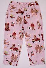 Nick and Nora Pink Sock Monkey TV Car Bowling Grill Pajama Bottoms Lounge Pants