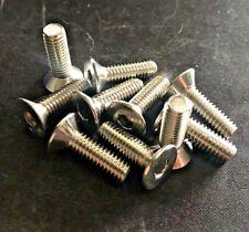 25x M6 x 20 Stainless Steel Counter Sunk Screw Bolt Machine A4 6mm Allen Hex Key