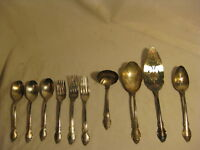 antique Holmes Edwards IS Deepsilver silver plated 10 utensil server slotted mix