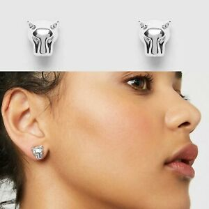 ❤️❤️❤️ Mimco Prowess Silver Stud Earrings New Mimco + Dust Bag