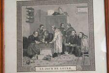 Zahlung der Wohnungsmiete, um 1800