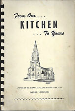 *DEPERE WI VINTAGE *ST FRANCIS CATHOLIC CHURCH COOK BOOK *LOCAL ADS *WISCONSIN