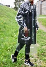Transparent reusable raincoat plus size